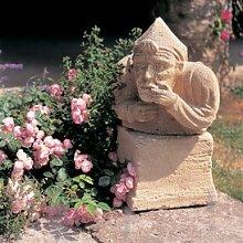 Gartentraum Garten Steinguss Dekofigur - Geoffrey, Ocker