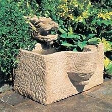 Gartentraum Garten Zierbrunnen aus Stein - Elsass, Ocker