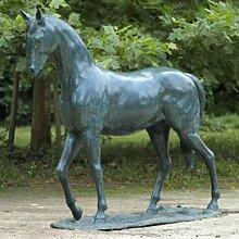 Gartentraum Große Bronze Statue mit Pferd - Don
