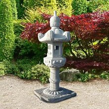 Gartentraum Große Steinlampe chinesischer Garten - Narita, Steingrau