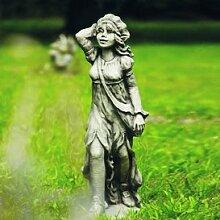 Gartentraum Lustige Garten Steingussfigur - Gerodine, Antikgrau