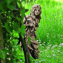 Gartentraum Lustige Steinguss Gartenskulptur -
