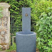 Gartentraum Moderner Garten Brunnen aus Stein - Belluno, Steingrau