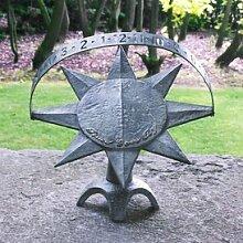 Gartentraum Romantische Garten Sonnenuhr - Graphos, Bronze