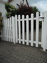Gartentür | Alu/Kunststoff weiss | Form Exklusiv | BxH 100x100 cm