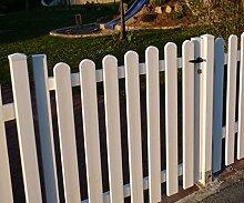 Gartentür | Alu/Kunststoff weiss | gerade Form | BxH 100x100 cm