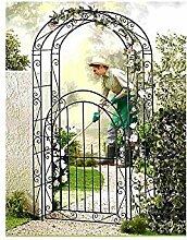 Gartentür mit Rankhilfe, Gartenprotal mit