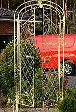 Gartentür Rosenbogen Rankgitter Spalier Pergola Rosenbogen mit Pforte Tor 216 x 91 x 35 cm