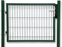 Gartentür zum Doppelstabmattenzaun grün - Höhe 200 cm / Breite 100 cm