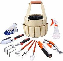 Gartenwerkzeugtasche, Gartengeräte-Set mit