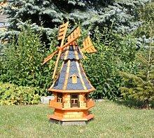 Gartenwindmühle mit Solar blau Typ 4.1
