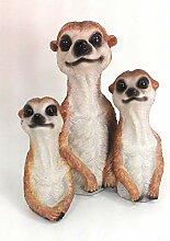 Gartenzaubereien Erdmännchen Familie
