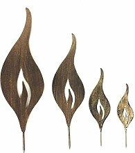 Gartenzaubereien Flamme 4er Set goldfarben