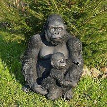 Gartenzaubereien Gorilla mit Baby