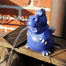 Gartenzaubereien Wasserspeier Drache blau,