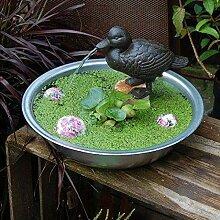 Wasserspeier Fisch blau mit Pumpe Wasserspiel Miniteich Garten Teichdeko