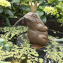 Gartenzaubereien Wasserspeier Froschkönig