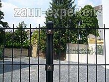 Gartenzaun 20 Meter komplett Höhe: 2030 mm Farbe anthrazit RAL 7016 Doppelstabgittermattenzaun