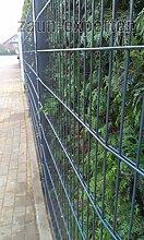 Gartenzaun 20 Meter komplett Höhe 830 mm Farbe anthrazit RAL 7016 Doppelstabgittermattenzaun