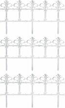 Gartenzaun Antik Weiß 11,1m Beetbegrenzung