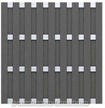 Gartenzaun, blickdicht aus WPC 179x179cm - Sichtschutz, Sichtschutz Elemente, Sichtschutzwand, Windschutz