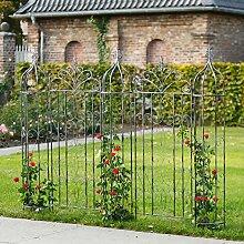 Gartenzaun Chalet du Charme mit Obelisken