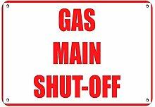 Gartenzaun Garage Dekoratives Schild Gas Main Shut