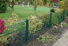 Gartenzaun Gesamt Preis für 75m Zaun 630mm Höhe RAL6005/grün Doppelstabmattenzaun, Gartenzaun, Metallzaun, Zäune, Tor, Gartentor,