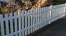 Gartenzaun | Kunststoff weiss | gerade Form | BxH 180 x 100 cm