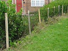 Gartenzaun Kunststoffgitter 15mm, 1 x 12,5m, schwarz