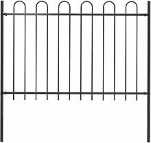 Gartenzaun Mit Bugel-Design Stahl 1,7 X 1,2 M