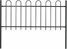 Gartenzaun Mit Bugel-Design Stahl 1,7 X 1 M Schwarz