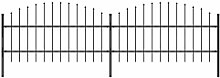 Gartenzaun mit Speerspitzen Stahl (0,75 - 1) x 3,4