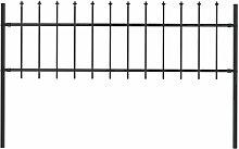 Gartenzaun Mit Speerspitzen Stahl 1,7 X 0,6 M