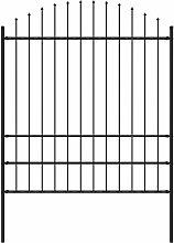 Gartenzaun mit Speerspitzen Stahl (1,75 - 2) x 1,7