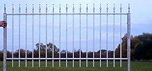 Gartenzaun Zaun Metall Metallzaun Limone-Z80/191-I Verzink