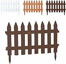 Gartenzaun Zaun Zierzaun Friesenzaun Lattenzaun 3,20m Beeteinfassung 3 Farben (Terrakotta)