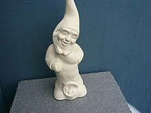 Gartenzwerg aus Keramik Dekor Natur hergestellt in Deutschland