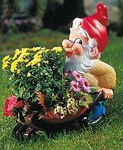 Gartenzwerg bepflanzbar, Figur Zwerg mit