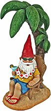 Gartenzwerg Statue - Beach Comber Gnome Dude - Outdoor-Gartenzwerge - Lustiges Rasen Gnome Statuen