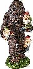 Gartenzwerg Statue - Schlepping die Gartenzwerge Bigfoot Statue - Yeti Statue