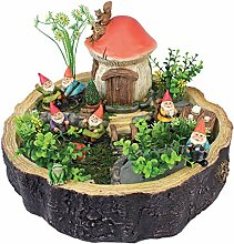 Gartenzwerg Statue - Tiny Forest Friends - Gnome Haus - Fairy Garden - Gnomendorf
