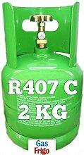 GAS R407 C 2 kg von Produkt Netto - leer 3 Lt im Preis enthalten - Hinweis: für die Beschaffung von Gasen ist obligatorisch patentino oder Erklärung von Kauf für Wiederverkauf
