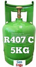 GAS R407 C 5 kg von Produkt Netto - leer 7 Lt im Preis enthalten - Hinweis: für die Beschaffung von Gasen ist obligatorisch patentino oder Erklärung von Kauf für Wiederverkauf