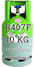 GAS r407 F 10 kg Produkt Netto leer 13 Lt im Preis enthalten