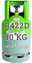 GAS r422d 10 kg Produkt Netto leer 13 Lt im Preis enthalten