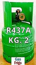 GAS R437 a 2 kg Produkt Netto leer 3 Lt im Preis enthalten - Hinweis: für die Beschaffung von Gasen ist obligatorisch patentino oder Erklärung von Kauf für Wiederverkauf