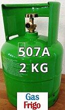 GAS R507 A 2 kg Produkt Netto leer 3 Lt im Preis enthalten