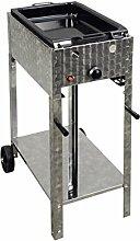 Gasbräter 4 kW fahrbar mit emaillierter Stahlpfanne 1-flammig Gasgrill Grill Gastrobräter Profigrill Verein