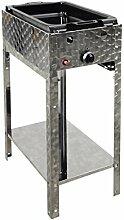 Gasbräter 4 kW Standmodell mit emaillierter Stahlpfanne 1-flammig Gasgrill Grill Gastrobräter Profigrill Verein